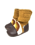 Nooks Design Felt Wool Booties Embroidered - Chase the Sun