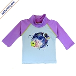 NoZone UV Swim Shirt - Lavender Fish
