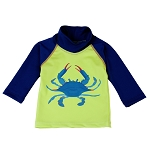 NoZone UV Swim Shirt - Lime & Navy Crab