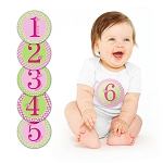 Pearhead Milestone First Year Baby Stickers