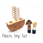 Meadowlark Toy Company - Pirate Ship with Dolls