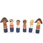 Meadowlark Toy Company - Pirate Peg Dolls