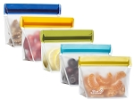 (re)Zip 5 pack Stand up 1 cup reusable bags