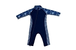 Stonz One Piece UV50 Sun Suit 2019 - Navy Waves