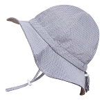 Twinklebelle Cotton Floppy Grow With Me Sun Hat - Grey Argyle