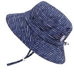Twinklebelle Cotton Bucket Grow With Me Hat - Navy Waves