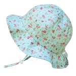 Twinklebelle - Jan & Jul Cotton Floppy Grow With Me Sun Hat - Retro Rose