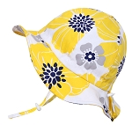 Twinklebelle Cotton Floppy Grow With Me Sun Hat - Yellow Flower