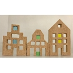 Papoose Toys - Building - Lucite Houses Set 3 pcs