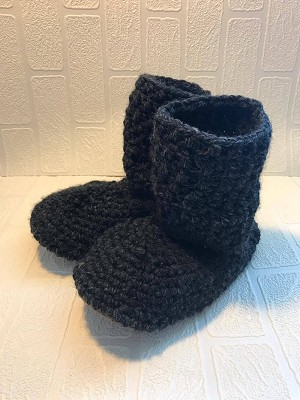 Jack's Mama's Knit Booties (Suede sole)