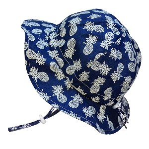 Twinklebelle Cotton Floppy Grow With Me Sun Hat - Navy Pineapple