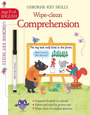 Usborne 'Wipe-Clean Comprehension 5-6' Book