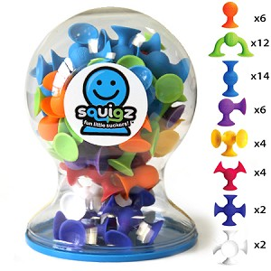 Fat Brain Toys - Squigz Deluxe Set (50 piece)